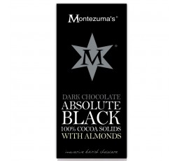 Montezuma's 100% Cocoa Bar with Almonds: Absolute Black 100g
