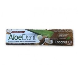 Optima Aloe Dent Coconut Oil Toothpaste 100ml BUY MORE PAY LESS