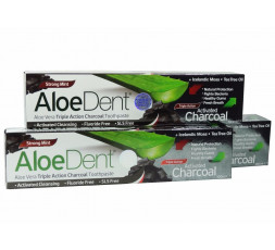 AloeDent Activated Charcoal Toothpaste 100ml BUY MORE PAY LESS