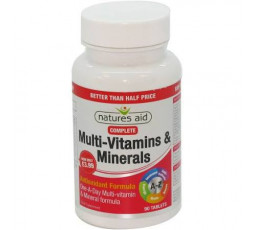 Natures Aid Complete Multi Vitamins and Minerals 90 tabs