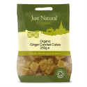 Just Natural Organic Ginger Candied Cubes 250g