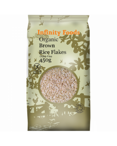 Infinity Foods Organic Brown Rice Flakes 450g