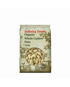 Infinity Foods Organic Whole Cashews 250g
