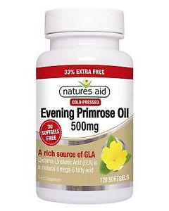 Natures Aid Evening Primrose Oil 500mg 120 softgels