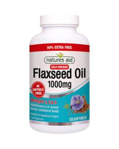 Natures Aid Flaxseed Oil 1000mg 135 softgels