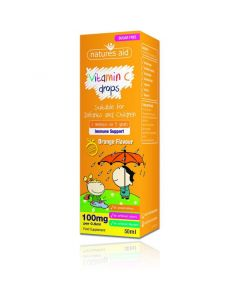 Natures Aid Vitamin C 100mg Mini Drops for Infants and Children 50ml