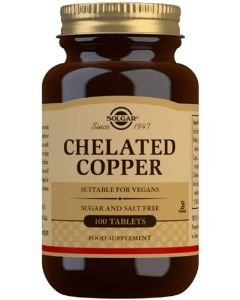 Solgar Chelated Copper 2.5mg 100 tabs