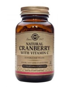 Solgar Cranberry plus Vitamin C 60 Vcaps