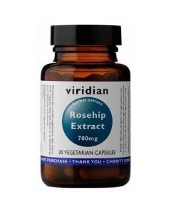 Viridian Rosehip Extract 700mg 30 Vcaps